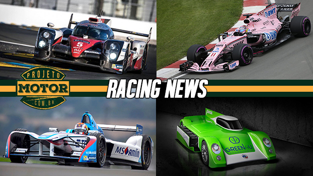 Toyota na pole em Le Mans, Force India pensa em mudar de nome, Porsche estuda a F-E e mais!