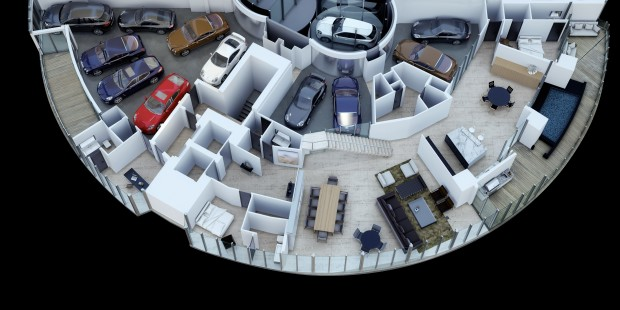 Que tal guardar 11 carros dentro do seu apartamento na cobertura? - FlatOut!