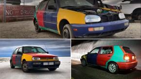 Um cara salvou este VW Golf Harlequin do ferro-velho e agora está cruzando seu país com ele