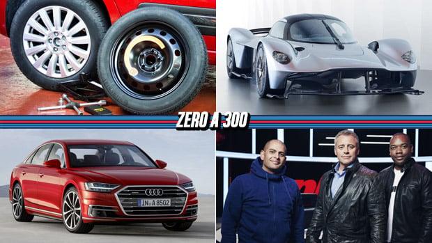 Governo quer proibir estepe temporário, Aston Martin revela o Valkyrie de produção, A nova geração do Audi A8 e mais!