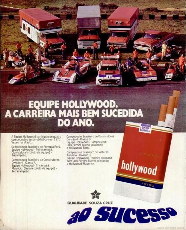 anuncio cigarros Hollywood - 1975
