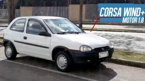 Imagine como é dirigir este Chevrolet Corsa Wind com motor 1.8 de Cobalt – que está à venda!