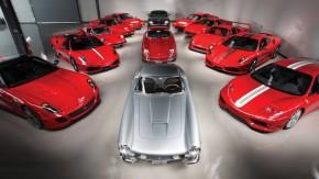 Alguém está vendendo esta coleçãode 13 Ferrari por quase R$ 60 milhões