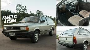 Uma VW Parati CL monocromática, bem cuidada, original e à venda!
