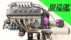 Este cara fez um motor V10 em miniatura totalmente funcional – e você precisa ouvir o ronco dele