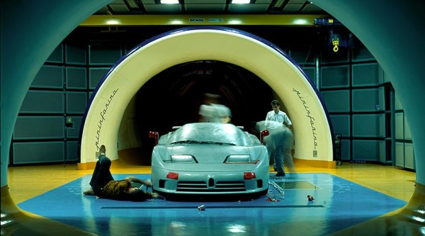 Bugatti-EB110-Prototype-at-wind-gallery-at-Pininfarina