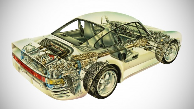 Porsche 959_ Technical View