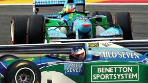 Spa, 25 anos depois: filho de Schumacher comemora primeira vitória do pai pilotando Benetton do 1º título