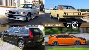 Um BMW M3 E36 bem original, um elegante Opala cupê monocromático, uma perua Renault Megane e as novidades do GT40