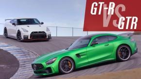 Nissan GT-R  e Mercedes GT R se enfrentam na rua e na pista. Qual deles é o melhor?