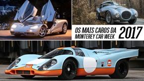 Os carros mais caros leiloados na Monterey Car Week 2017