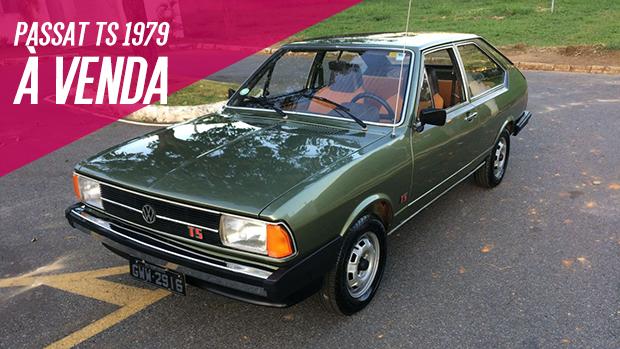 Que tal um Passat TS 1979 íntegro e muito original? Este aqui está à venda!