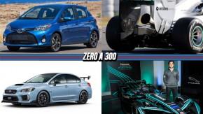 Toyota terá dois novos modelos no Brasil, Subaru STI ganha nova versão mais potente, F1 terá microfones no escape e mais!