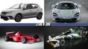 Sandero e Logan terão facelift no Brasil, McLaren mostra protótipo do sucessor do F1, Ferrari do título de Schumacher em 2001 à venda e mais!