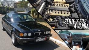 Um raro e luxuoso BMW 750iL E32, com entre-eixos longo, motor V12 e à venda