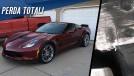 Este Chevrolet Corvette Grand Sport novinho virou sucata por causa de uma rachadura de 2,5 cm
