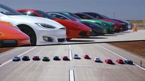 Tesla Model S deixa todo mundo para trás na arrancada anual da Motor Trend
