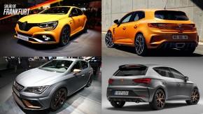 Renault Mégane RS e Seat León Cupra: os hot hatches marcam presença em Frankfurt