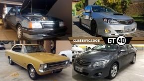Um Monza SL/E bem conservado, um Subaru WRX de 500 cv, um Opala com 40.000 km rodados e as novidades do GT40