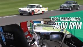 Pare o que estiver fazendo e veja Tom Kristensen domando um Ford Thunderbird de corrida em Goodwood