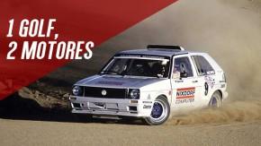 Quando a Volkswagen levou um Golf Mk2 com dois motores para subir Pikes Peak