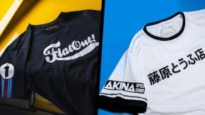Chegaram! Os primeiros modelos de camisetas do FlatOut Official Gear já estão disponíveis