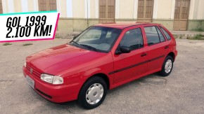 Sim, este VW Gol Mi 1.6 1999 tem só 2.100 km rodados – e está à venda!