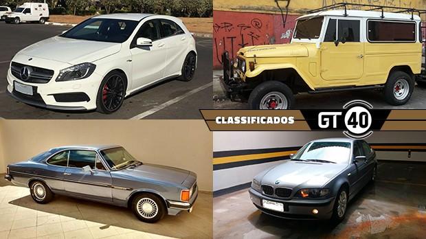 """Um Chevette """"monzinha"""" bem original, um BMW E36 seis-cilindros e manual, um hot hatch AMG e as novidades do GT40"""