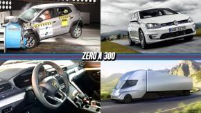 Renault Kwid ganha 3 estrelas no Latin NCAP, VW irá vender Golf GTE e e-Golf no Brasil, caminhão Tesla irá de zero a 100 km/h em 5 segundos e mais!