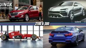 Chevrolet Equinox ganha versão de entrada, Lamborghini revela Urus em teaser, Alfa Romeo pode voltar à Fórmula 1 em 2018 e mais!