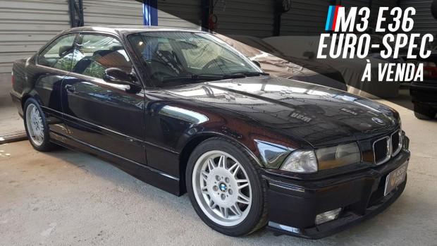 Um BMW M3 E36 Euro: seis-em-linha, 286 cv, câmbio manual, tração traseira – e à venda