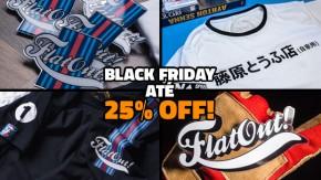 [Até esta segunda-feira!] Black Friday na loja do FlatOut: até 25% de desconto nos produtos!