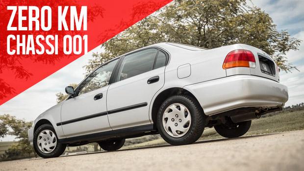 Dirigimos o Honda Civic 1997 zero km que a Honda do Brasil preserva a sete chaves!