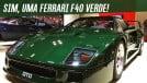 Este cara pintou sua Ferrari F40 de Verde Abetone e ela ficou absurdamente bonita