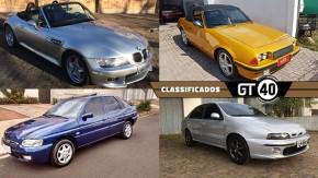 Um BMW Z3 M com câmbio manual, um Santa Matilde conversível, um Escort Zetec 1.8 16v bem conservado e as novidades do GT40!