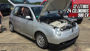 Este cara colocou dois motores W12 6.0 em um minúsculo VW Lupo