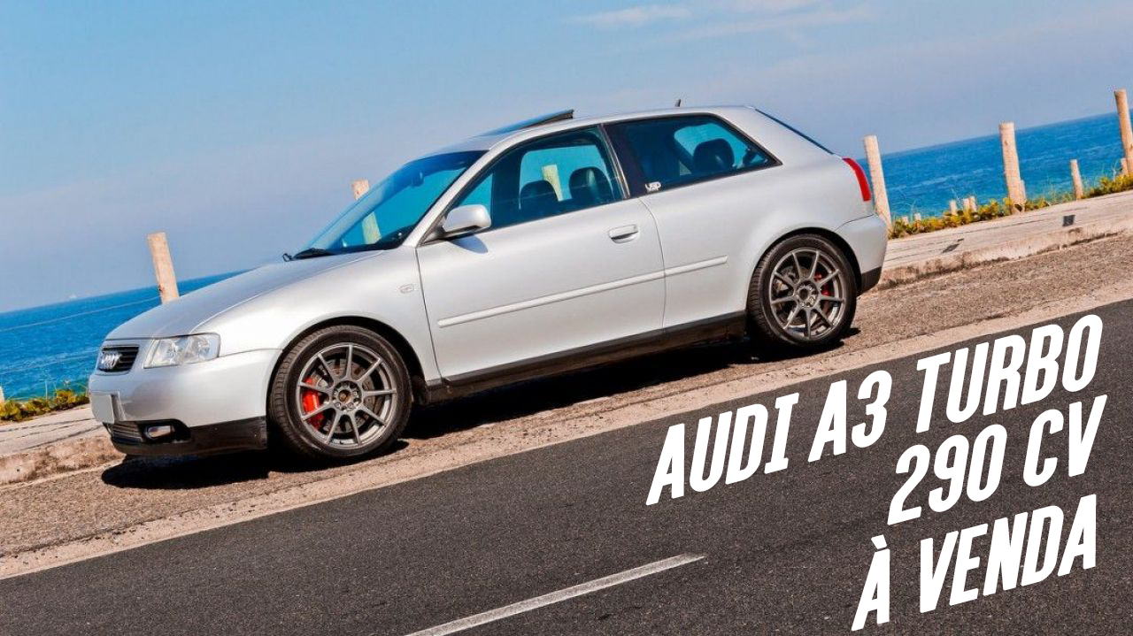 este audi a3 turbo com motor 1 9 de 290 cv est venda flatout. Black Bedroom Furniture Sets. Home Design Ideas