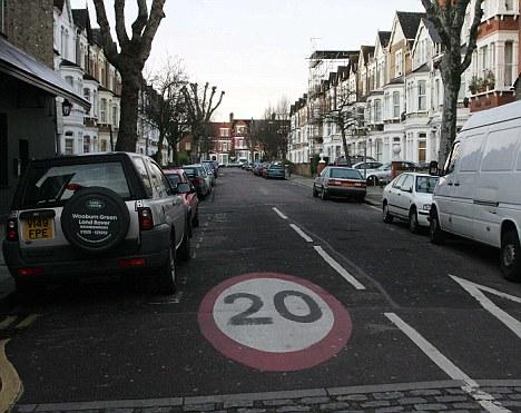 20 mph roads in Kilburn Picture by GLENN COPUS