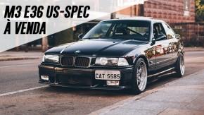 Um BMW M3 E36 americano bem cuidado, modificado com bom gosto e à venda