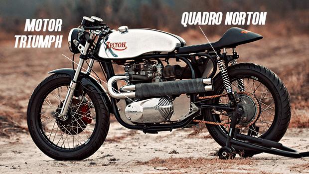 """Triton: a moto """"híbrida"""" que se tornou um ícone das cafe racers nos anos 60"""
