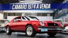 Quer um muscle car de respeito? Este Camaro 1974 com motor V8 350 novo está à venda no Brasil!