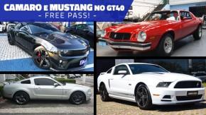 Semana Camaro e Mustang no GT40: todas as gerações podem fazer anúncios na faixa até terça que vem!