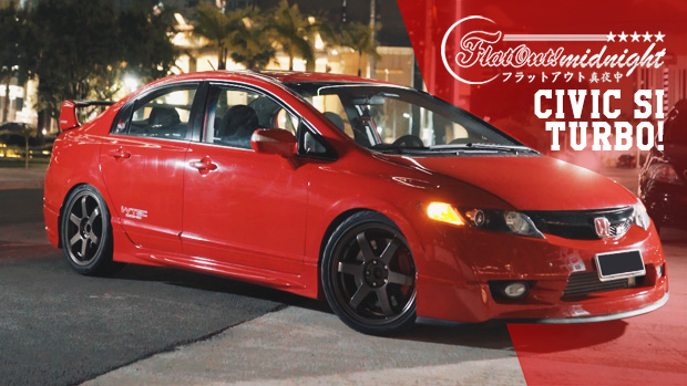 honda civic si turbo com kit mugen mais de 400 cv nas. Black Bedroom Furniture Sets. Home Design Ideas