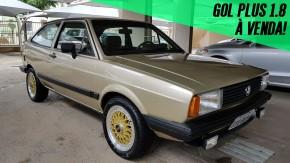 Um VW Gol Plus 1986 com motor 1.8 e acabamento monocromático à venda