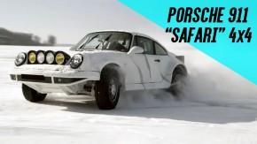 """Não se vê um Porsche 911 """"Safari"""" 4×4 com supercharger e 450 cv arrepiando no gelo assim todos os dias"""