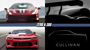 """Os primeiros detalhes da Ferrari 488 """"GTO"""", novo Toyota Supra será apresentado em março, Camaro Yenko volta com 1.000 cv e mais!"""