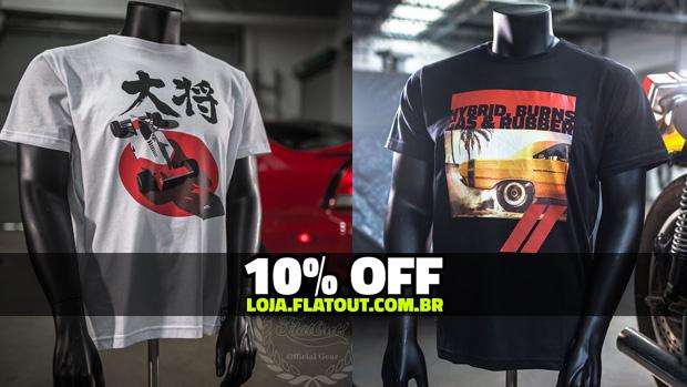 Adesivos do FlatOut na faixa ao adquirir a Type Rosso Corsa – e 10% off na loja toda!