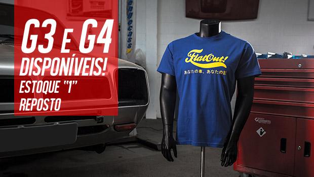 As camisetas FlatOut nos tamanhos G3 e G4 acabaram de chegar em 5 modelos (e uma reposição de estoque também!)