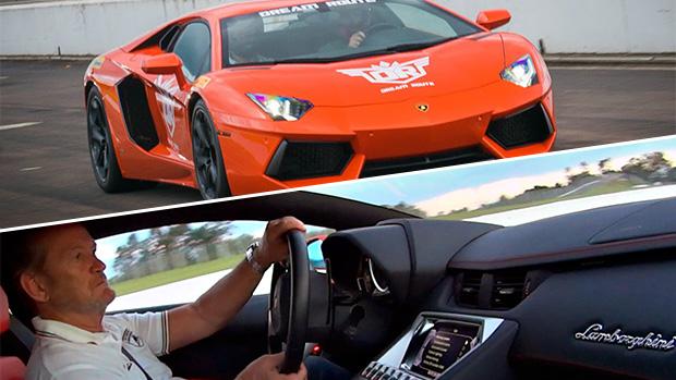 Dream Route: o dia em que peguei uma carona de McLaren e andei na pistacom Valentino Balboni em um Aventador