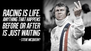"""Quem é o autor da frase """"Racing is life. Anything before or after is just waiting""""?"""